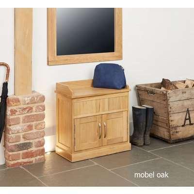 Mobel Solid Oak Hidden Storage Shoe Bench