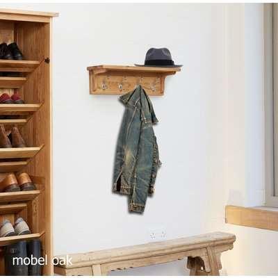 Mobel Solid Oak Wall Mounted Coat Rack