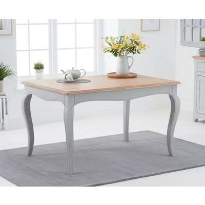 Parisian 130cm Grey Shabby Chic Dining Table