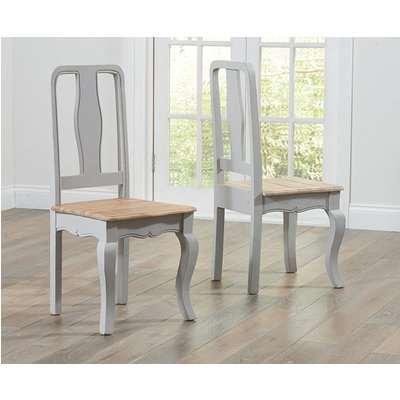 Parisian Grey Shabby Chic Dining Chairs (Pairs)