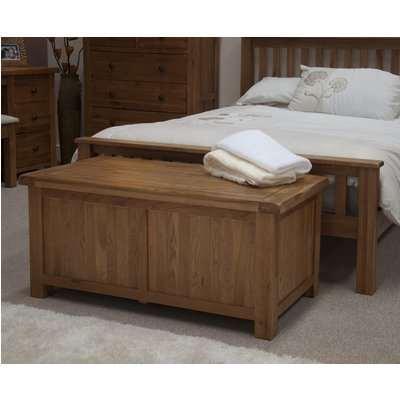 Rustic Oak Blanket Box