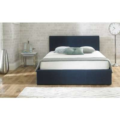 Sterling Blue Fabric Ottoman Super King Size Bed