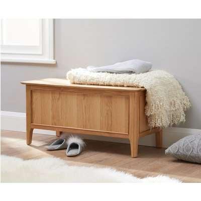 Suri Oak Blanket Box