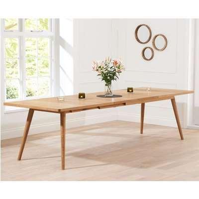 Tivoli 200cm Retro Oak Extending Dining Table