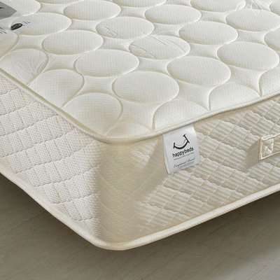 4ft Small Double Quilted Mattress Bamboo Natural Fillings - Mirage Spring