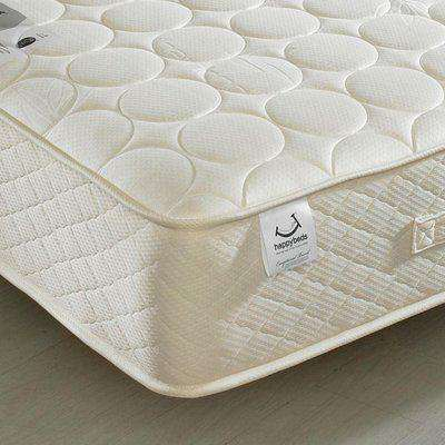 6ft Super King Size Quilted Mattress Bamboo Natural Fillings - Mirage Spring