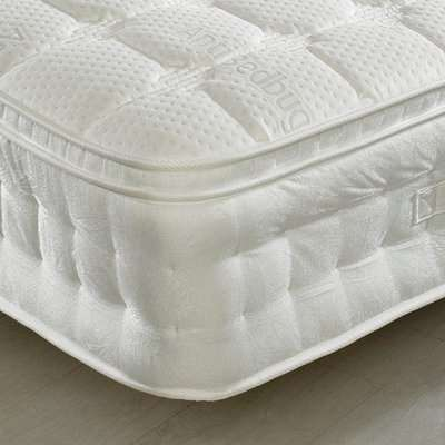 Anti-Bed Bug 1500 Pocket Sprung Memory, Latex and Reflex Foam Pillow Top Mattress - 4ft Small Double (120 x 190 cm)