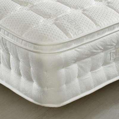 Anti-Bed Bug 1500 Pocket Sprung Memory, Latex and Reflex Foam Pillow Top Mattress - 3ft Single (90 x 190 cm)