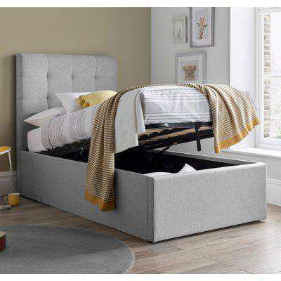 3FT Candy Grey Fabric Ottoman Bed Frame - 3ft Single