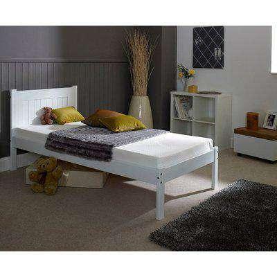Clifton White Wooden Bed Frame - 3ft Single
