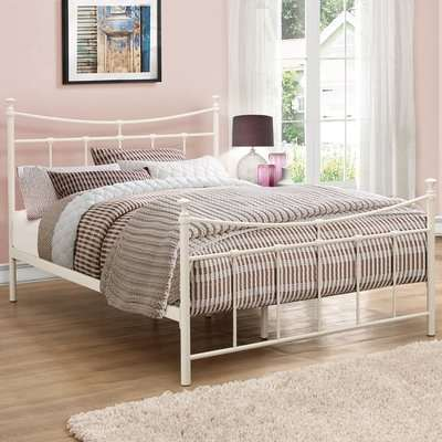Emily Cream Metal Bed Frame - 4ft Small Double
