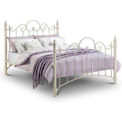 Florence Stone White Metal Bed Frame - 4ft6 Double