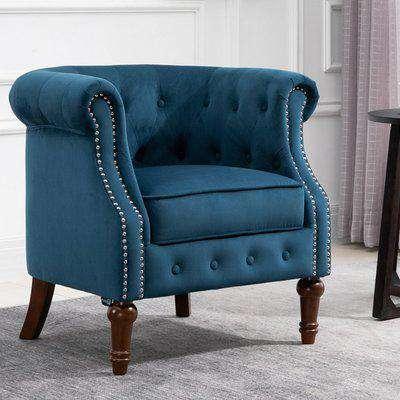 Freya Blue Fabric Chair