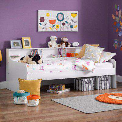 Grace White Wooden Day Bed Frame Only - 3ft Single