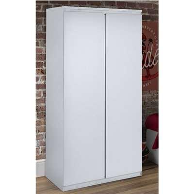 Jupiter White Wooden 2 Door Wardrobe