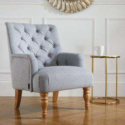 Padstow Grey Fabric Armchair