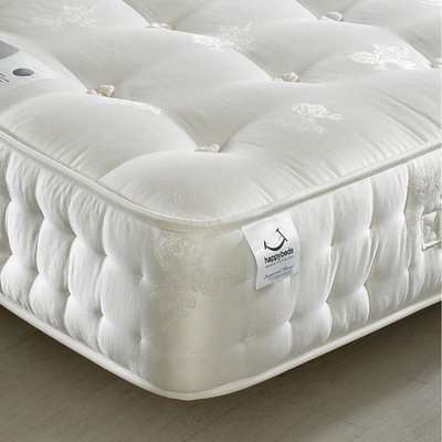 Signature Silver 1400 Pocket Sprung Orthopaedic Natural Fillings Mattress - 4ft Small Double (120 x 190 cm)