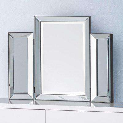 Soprano Glass Folding Dressing Table Mirror - 65 cm x 50 cm