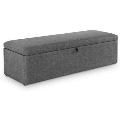 Sorrento Grey Fabric Blanket Box