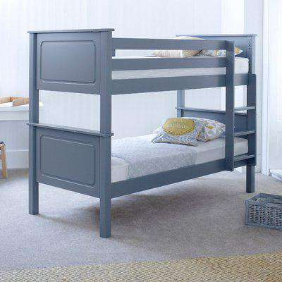 Vancouver Grey Solid Pine Wooden Bunk Bed Frame - 3ft Single