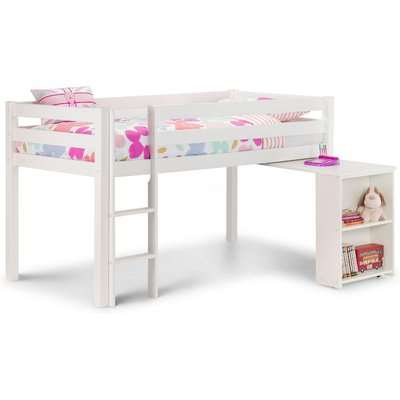Wendy White Wooden Mid Sleeper Frame Only - 3ft Single