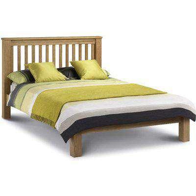Wooden Bed Frame 6ft Super King Size Amsterdam Low Foot End Solid Oak