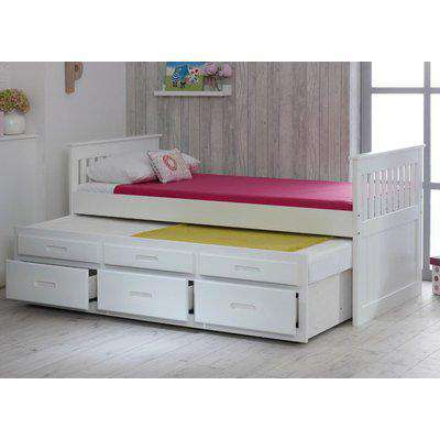 Wooden Guest Bed Frame 3ft Single Captains White