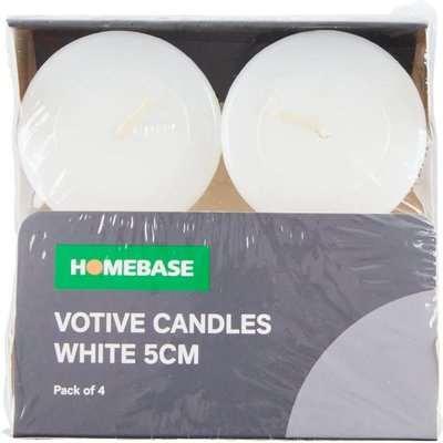 4 x Votive Candles - White