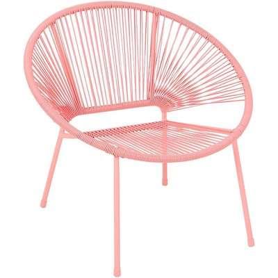 Homebase Acapulco Garden Chair - Pink