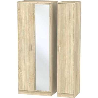 Amalfi Bardolino Triple Mirror Wardrobe