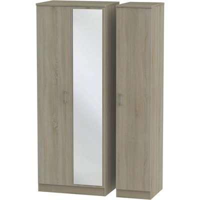 Amalfi Darkolino Triple Mirror Wardrobe