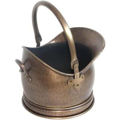 Antique Brass Coal Bucket Medium