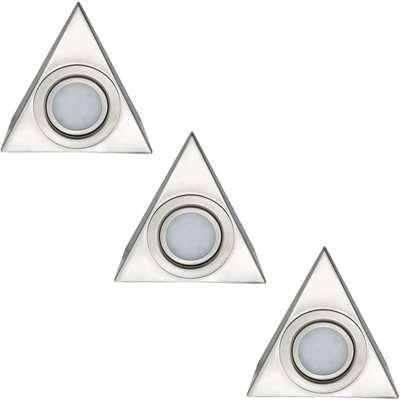Arlec 3 Pack LED Triangle Cabinet Lights