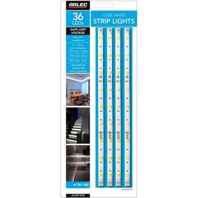 Arlec 4 Cool White Strip Light Pack