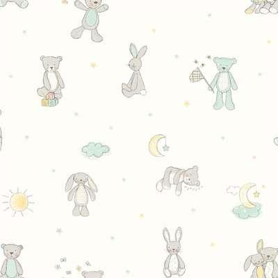 Arthouse Bear Hugs Kids Smooth Mint Wallpaper
