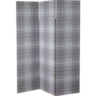 Arthouse Country Check Room Divider - Charcoal