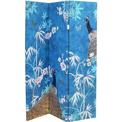 Arthouse Peacock Room Divider - Blue
