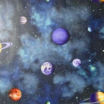 Arthouse Solar Kids Textured Glitter Multi Coloured Navy Wallpaper