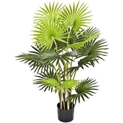 Artificial 95cm Fan Palm Tree In Pot