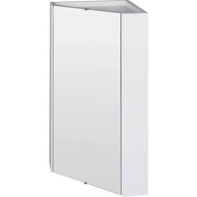 Balterley Orbit Corner Mirror Cabinet - Gloss White