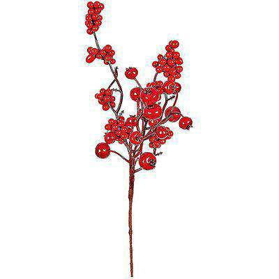 Red Berry Wreath, Garland or Christmas Tree Decoration Pick