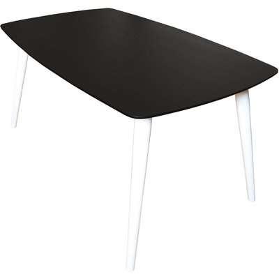 Black Ash Veneer Dining Table