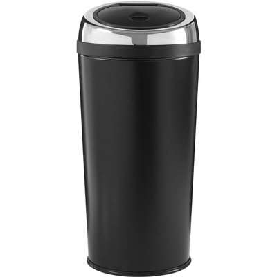 Black Enamel Touch Top Bin - 30L