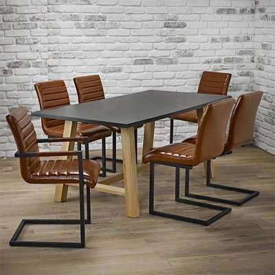 Brooklyn 6 Seater Dining Set - Montana Dining and Carver Chairs