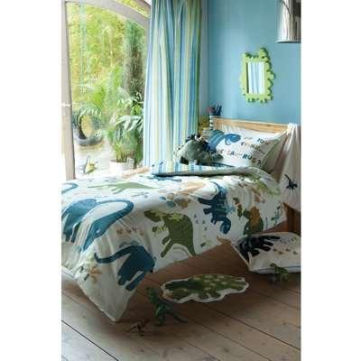 Catherine Lansfield Dino Easy Care Kids Single Duvet Set - Multicoloured