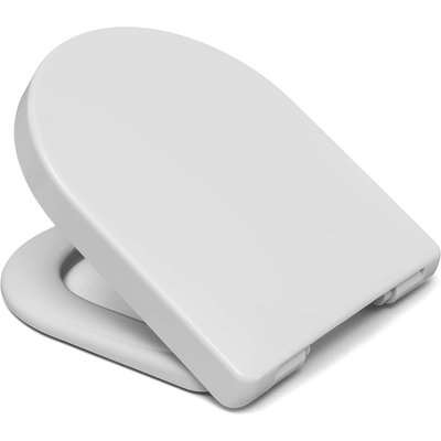 Cedo D-Shape Plastic Toilet Seat - White