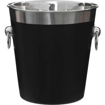 Champagne Bucket - Black Enamel