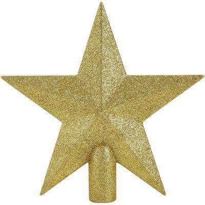 Champagne Glitter Star Christmas Tree Topper