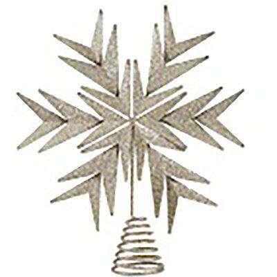 Champagne Snowflake Christmas Tree Topper