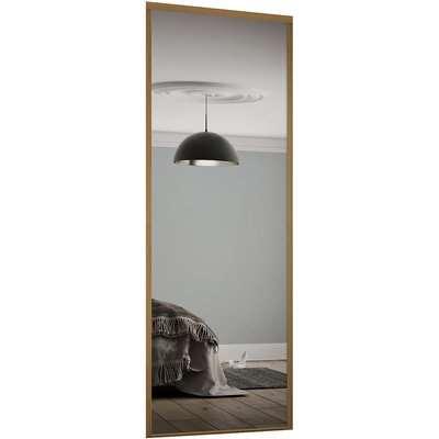 Classic Sliding Wardrobe Door Mirror with Oak Frame (W)762mm